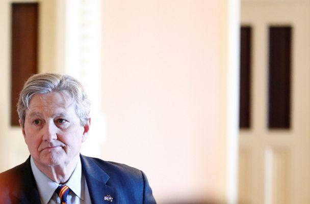 PHOTO: Senator John Kennedy attends the weekly Senate Republican luncheon meeting on Capitol Hill in Washington, Dec. 3, 2019. (Tom Brenner/Reuters)