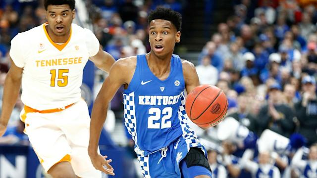 Gilgeous-Alexander averaged 14.4 points and 5.1 assists per game for Kentucky last season.