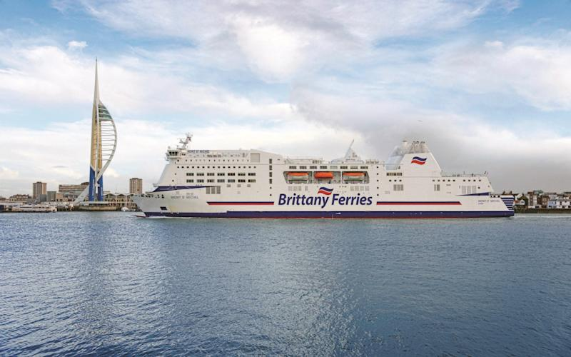 Brittany Ferries at Portsmouth - Maritime Photographic
