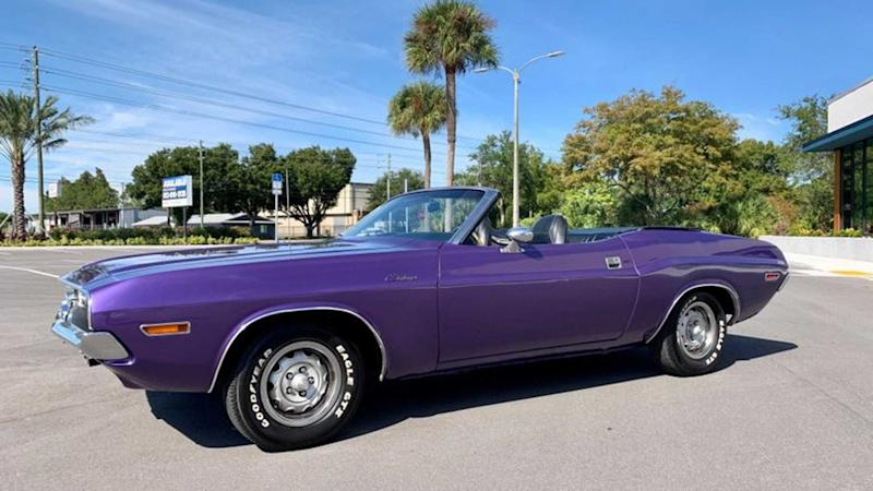 Dodge Challenger Convertible >> Cheer For The Plum Crazy 1970 Dodge Challenger Convertible