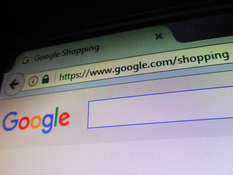 The website of Google Shopping service is seen in Manila, Philippines on Tuesday, June 27, 2017. According to news reports, the European Commission has issued a 2.42 billion euro fine on Google over the alleged promotion of its shopping service over other similar services in search results listings. (Photo by Richard James Mendoza/NurPhoto via Getty Images)
