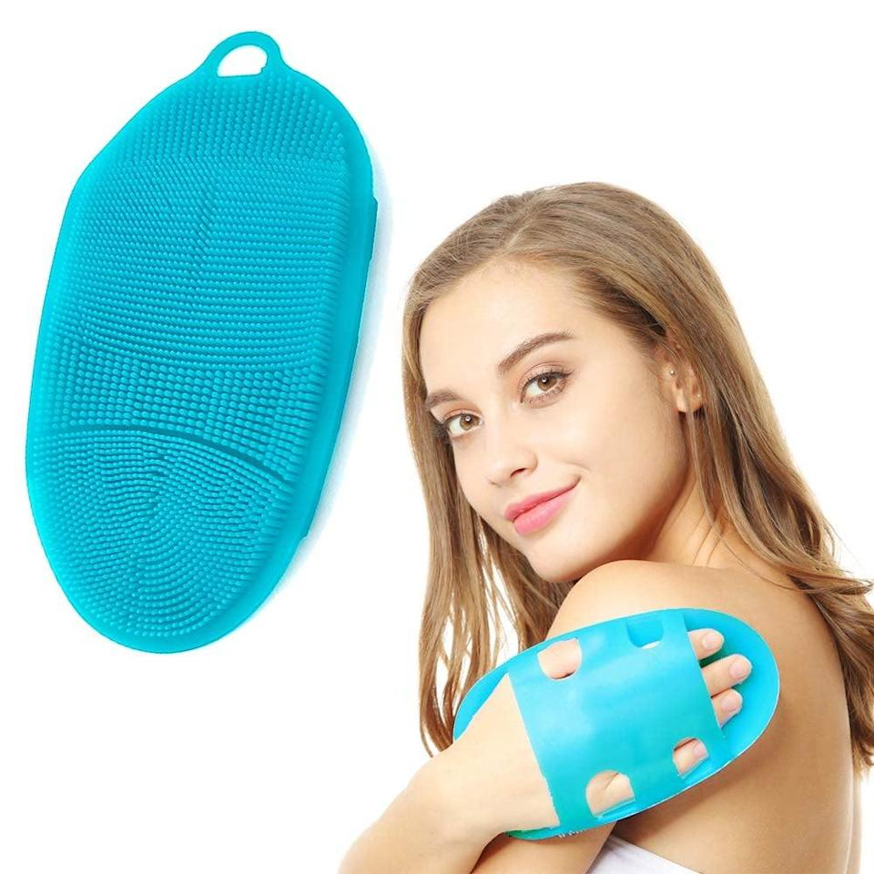 <p>Get a gentle yet effective exfoliation in with the <span>Innerneed Soft Silicone Body Scrubber </span> ($7).</p>