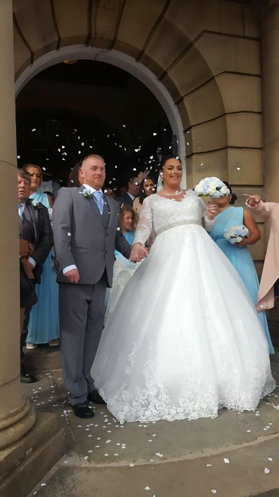 The couple still went on to have a happy wedding. [Photo: SWNS]