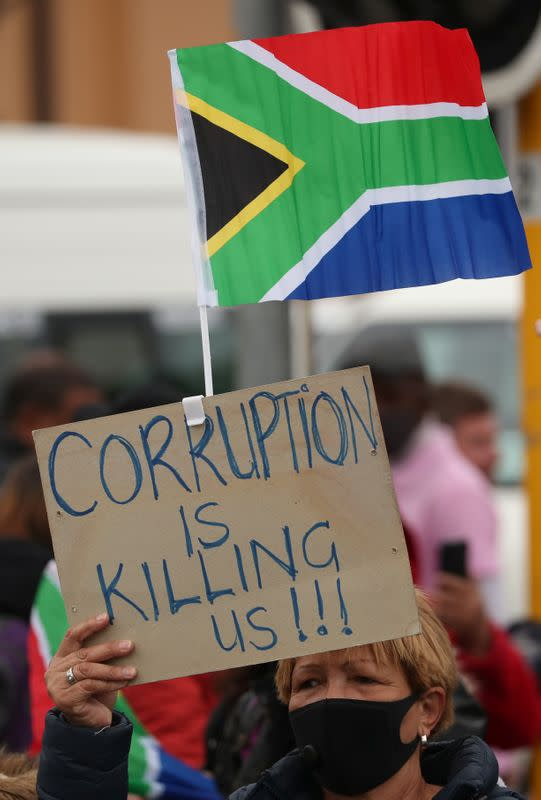 COVID-19 graft scandals fuel South Africans' anger with ruling ANC