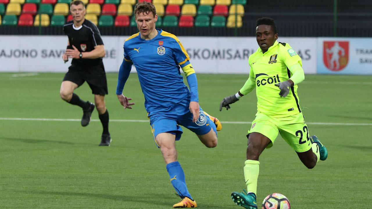 The Nigerian left-back was on song for the Knights as they recovered from a late scare to complete a turnaround against the Swedish side in Lithuania