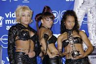 TLC accepted the award for Best Group Video in 1999 with super glowy, super soft makeup and individualistic hairstyles. In a word? Iconic.