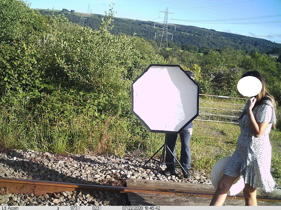 Network Rail previously called out an 'influencer' for their photoshoot on the railways tracks. Source: Network Rail