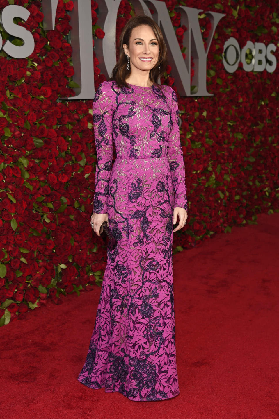 "<p>Laura Benanti, nominated for her role in <i>She Loves Me</i>, looked gorgeous in a hot pink and purple lace dress from Oscar de la Renta. Before performing a number from the musical, she tweeted, ""Tonight, every note I sing will be in remembrance of the lives taken in Orlando.""<i> (Photo: Getty Images)</i></p>"