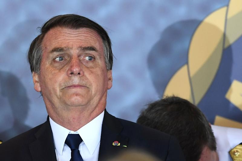Brazilian President Jair Bolsonaro, pictured in Brasilia on January 9, 2019, was best known during nearly three decades before he took office for his racist, misogynist and anti-gay comments
