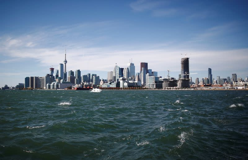 "FILE PHOTO: Toronto skyline stands on the waterfront before Alphabet Inc, the owner of Google, announced the project ""Sidewalk Toronto\"
