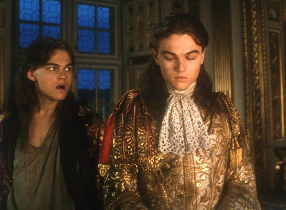 <p>Also with Jeremy Irons, this 1998 action adventure revolves around the imprisoned secret twin of King Louis XIV of France — both portrayed by Leonardo DiCaprio. <i>(Photo: Everett Collection)</i></p>