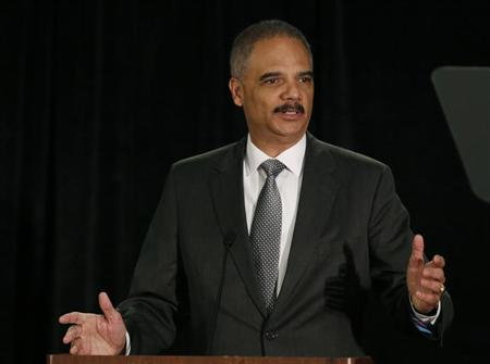 US Attorney General Holder speaks at National Association of Attorneys General in Washington