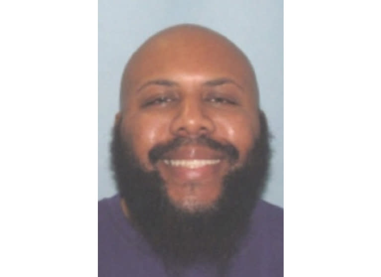 FILE - This undated file photo provided by the Cleveland Police shows Steve Stephens. Cleveland.com reports officers didn't find any electronic devices inside gunman Stephens' car after he led police on a chase in Erie, Pa., and then shot himself dead Tuesday. Cleveland police say they believe Stephens had two electronic devices during the Easter Sunday killing of Robert Godwin Sr. (Cleveland Police via AP, File)