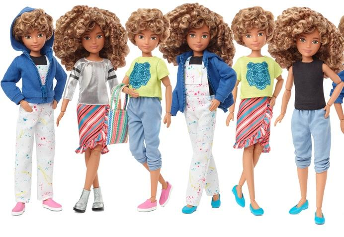 Barbie manufacturer Mattel have created a range of 'gender inclusive' dolls [Photo: Mattel]