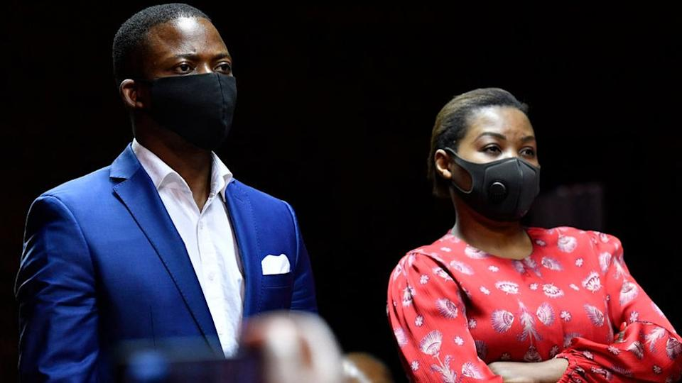 Shepherd Bushiri and his wife Mary appear at Pretoria Magistrate's Court on November 04, 2020 in Pretoria, South Africa.