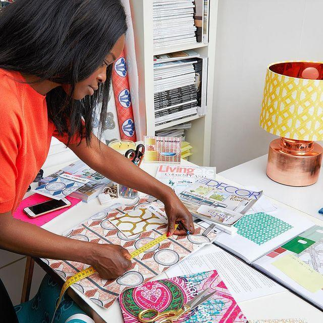 "<p>Eva Sonaike is a textiles and soft-furnishings designer based in London. </p><p><a href=""https://www.instagram.com/p/Bw4blraHuSW/"" rel=""nofollow noopener"" target=""_blank"" data-ylk=""slk:See the original post on Instagram"" class=""link rapid-noclick-resp"">See the original post on Instagram</a></p>"