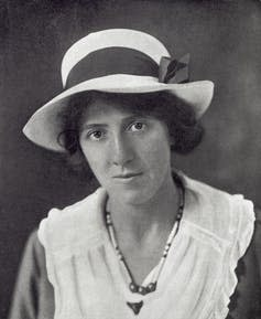 Black and white portrait photo of Marie Stopes.
