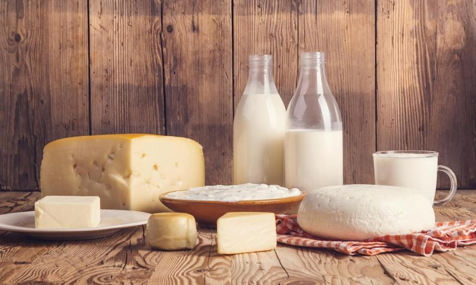 Variety of dairy products