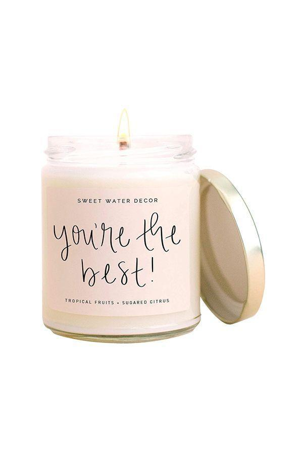 """<p><strong>Sweet Water Decor</strong></p><p>amazon.com</p><p><strong>$20.00</strong></p><p><a href=""""https://www.amazon.com/dp/B08F8L9B9K?tag=syn-yahoo-20&ascsubtag=%5Bartid%7C10072.g.31400004%5Bsrc%7Cyahoo-us"""" rel=""""nofollow noopener"""" target=""""_blank"""" data-ylk=""""slk:SHOP NOW"""" class=""""link rapid-noclick-resp"""">SHOP NOW</a></p><p>For the <a href=""""https://www.oprahmag.com/life/g28981948/gifts-for-candle-lovers/"""" rel=""""nofollow noopener"""" target=""""_blank"""" data-ylk=""""slk:candle lover"""" class=""""link rapid-noclick-resp"""">candle lover</a>, a chic gift from a son or <a href=""""https://www.oprahdaily.com/life/g30433351/mother-daughter-gifts/"""" rel=""""nofollow noopener"""" target=""""_blank"""" data-ylk=""""slk:daughter"""" class=""""link rapid-noclick-resp"""">daughter</a> that really tells it like it is. </p>"""