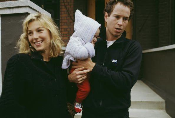 John McEnroe with his wife, actress Tatum O'Neal