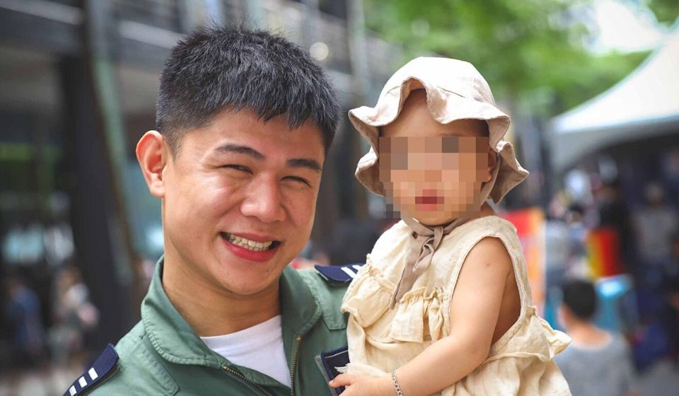 Chu Kuan-meng, pictured with his daughter, was killed in a crash last month. Photo: Handout
