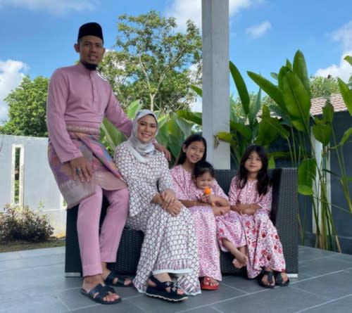 Nabil and his family of five