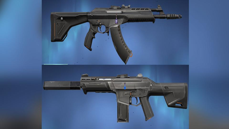 The Vandal (top) and Phantom (bottom) from VALORANT (Image: Riot Games)