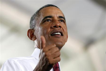 U.S. President Barack Obama speaks about jobs and the economy at North Carolina State University in Raleigh