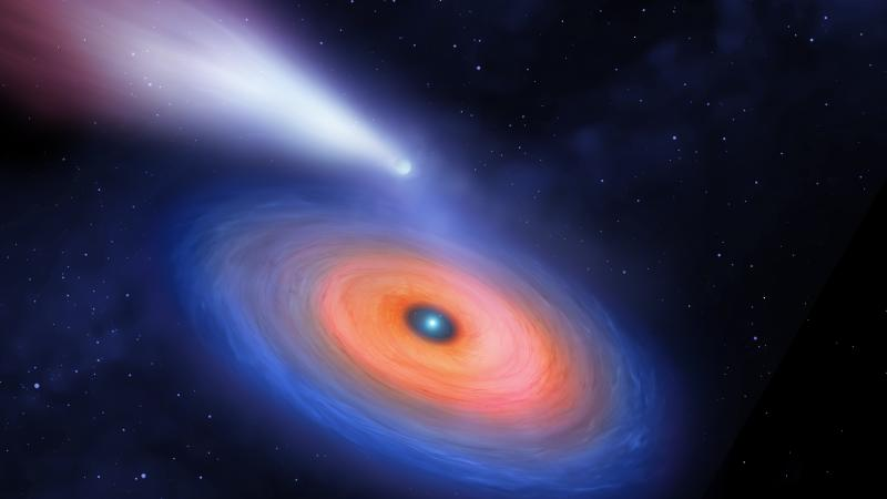 Hidden giant planet discovered orbiting tiny white dwarf star