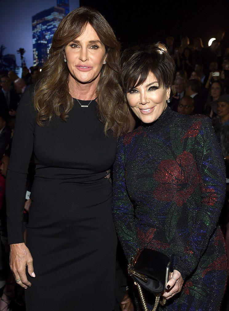 Caitlyn Jenner and Kris Jenner attend the 2015 Victoria's Secret Fashion Show.