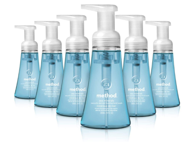 Method Foaming Hand Soap, Sea Minerals, 10-ounce (six-pack). (Photo: Amazon)