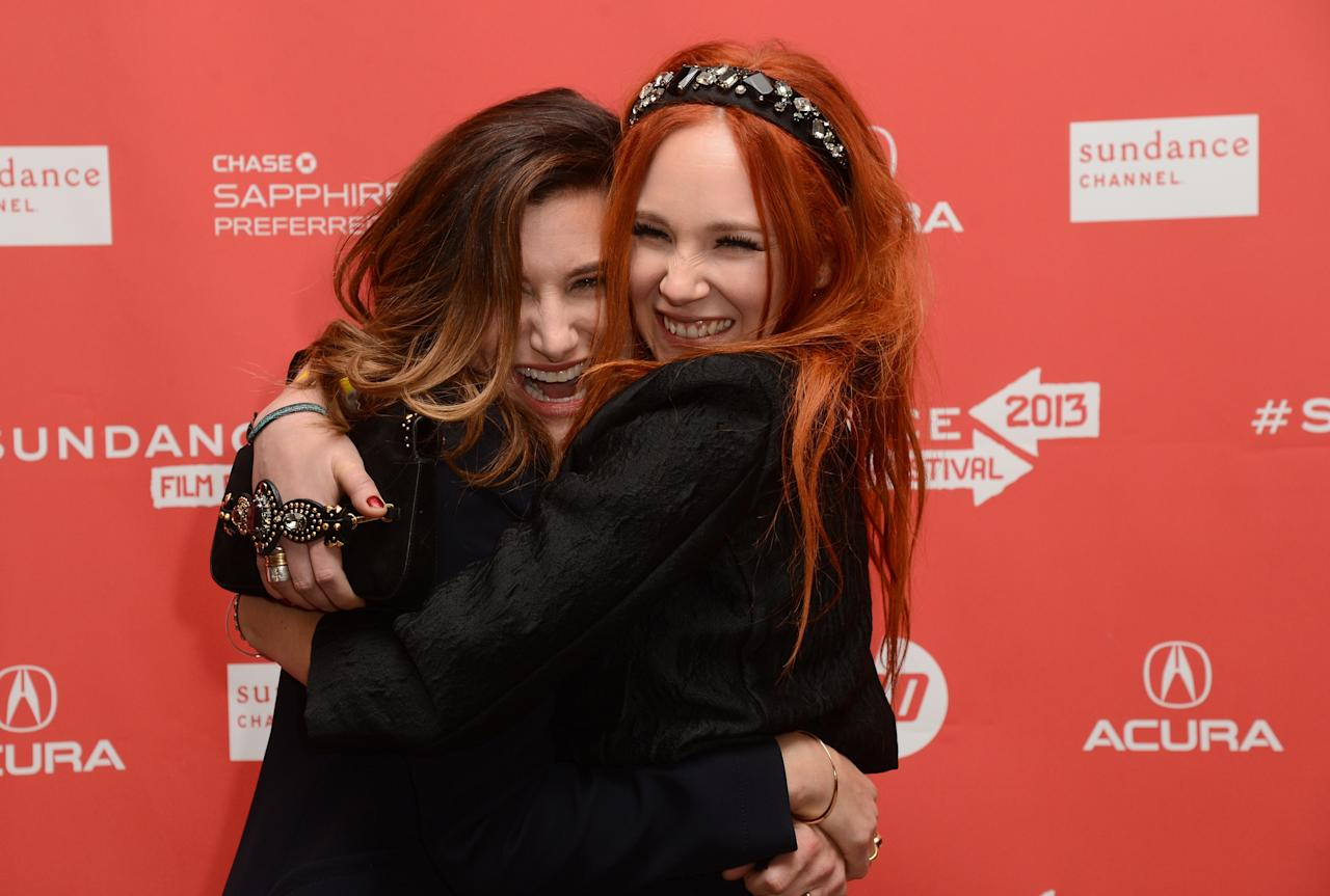PARK CITY, UT - JANUARY 21:  (L-R) Actors Kathryn Hahn and Juno Temple attend the 'Afternoon Delight' premiere at Eccles Center Theatre during the 2013 Sundance Film Festival on January 21, 2013 in Park City, Utah.  (Photo by Jason Merritt/Getty Images)
