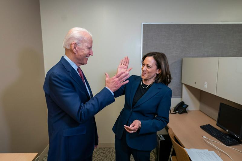 An undated handout photo made available by the Biden Harris Campaign shows former US Vice President and presumptive Democratic candidate for President Joe Biden with California Senator Kamala Harris, released after the campaign announced that Biden has chosen Kamala Harris as his vice presidential running mate on 10 August, 2020: EPA