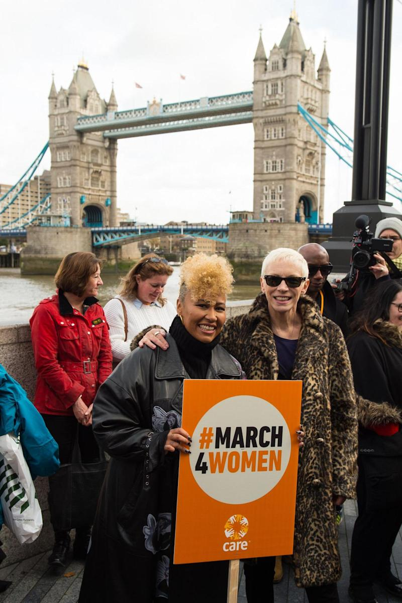 Emile Sande (left) and Annie Lennox were hosting the event(PA)