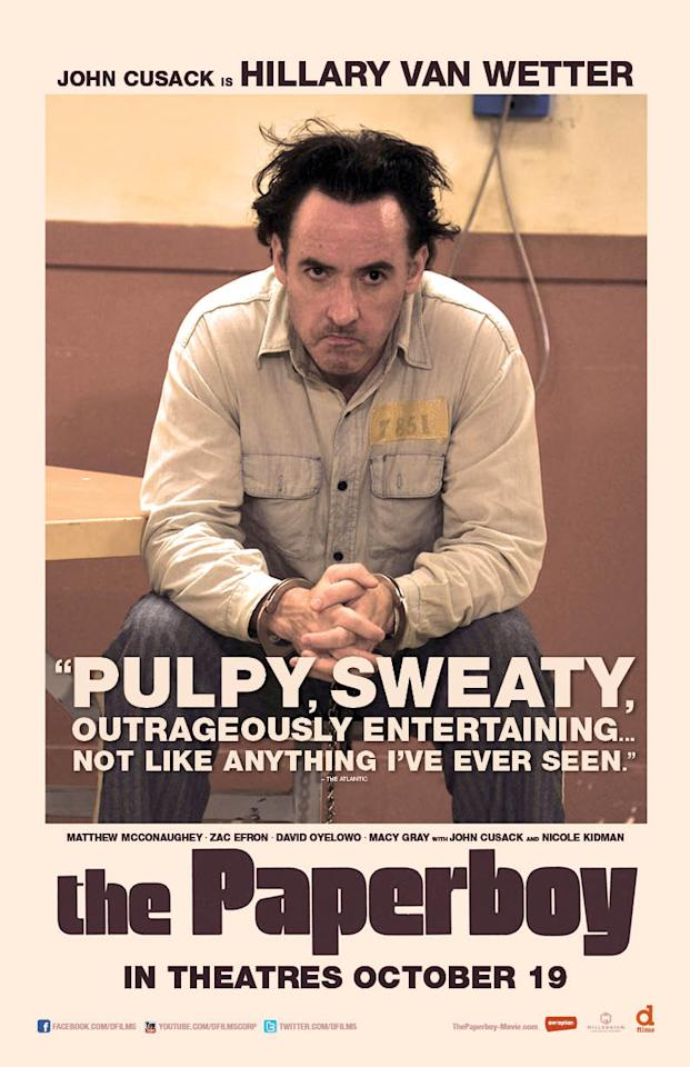 "John Cusack stars as Hillary Van Wetter, a man on death row in ""The Paperboy,"" in theatres Oct. 19."