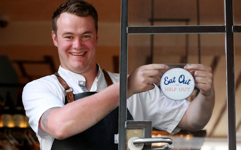 Will Murray, chef and co-owner of Fallow, which has seen a big rise in bookings since the scheme started - Jonathan Brady/PA