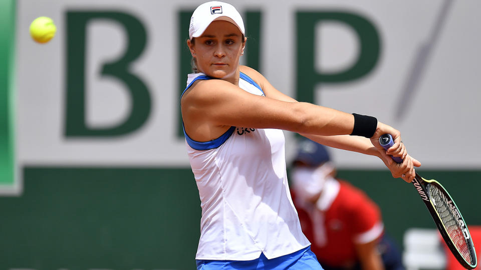 Ash Barty will wear an outfit that pays tribute to Australian champion Evonne Goolagong Cawley at Wimbledon. (Photo by Aurelien Meunier/Getty Images)