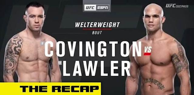 UFC Covington vs Lawler recap video