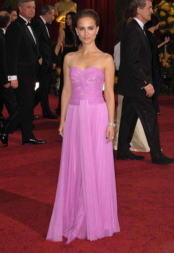 Natalie Portman   Grade: D       The 27-year-old starlet lacked luster in a cheap-looking Rodarte dress and jewels courtesy of Kwiat.