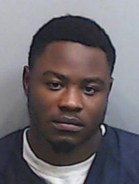 This Thursday, Nov. 29, 2018 photo released by the Fulton County Sheriff Department shows Erron Martez Dequan Brown in Atlanta. Brown, of Bessemer was charged with attempted murder in the Nov. 22. 2018 shooting at the Riverchase Galleria in Hoover, Ala., according to a statement from the Alabama Law Enforcement Agency. (Fulton County Sheriff Department via AP)
