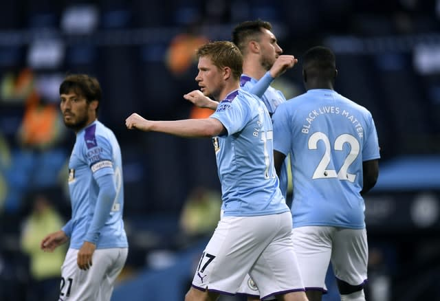 Kevin De Bruyne made it 2-0 (Peter Powell/NMC Pool/PA)