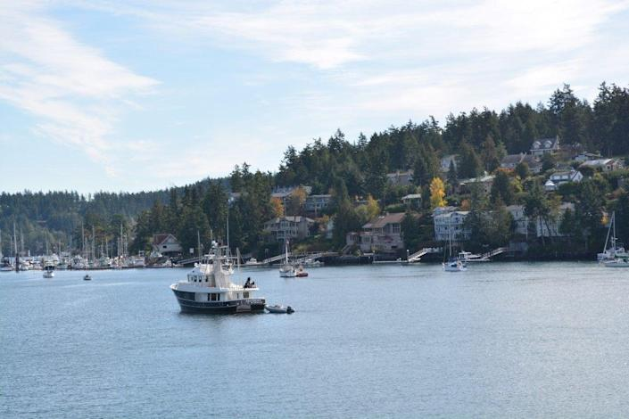 "<p>Running errands is a charming experience in <a href=""https://www.visitsanjuans.com/about-islands/friday-harbor-san-juan-island"" rel=""nofollow noopener"" target=""_blank"" data-ylk=""slk:Friday Harbor"" class=""link rapid-noclick-resp"">Friday Harbor</a>, a town where you won't find a chain store. Want a change of pace? It's as easy as hopping on one of the <a href=""http://www.fridayharbor.com/learn/"" rel=""nofollow noopener"" target=""_blank"" data-ylk=""slk:many ferries"" class=""link rapid-noclick-resp"">many ferries</a> that stop at Friday Harbor. </p>"
