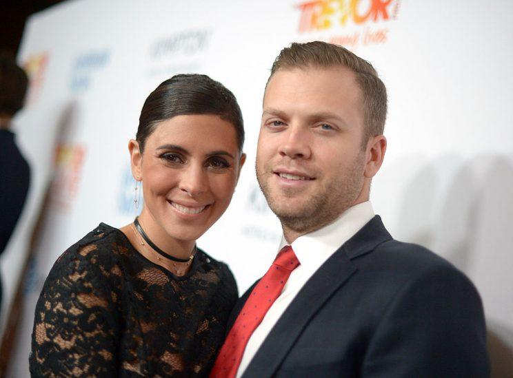 Actress Jamie-Lynn Sigler (L) and Cutter Dykstra attend The Trevor Project's 2016 TrevorLIVE LA at The Beverly Hilton Hotel