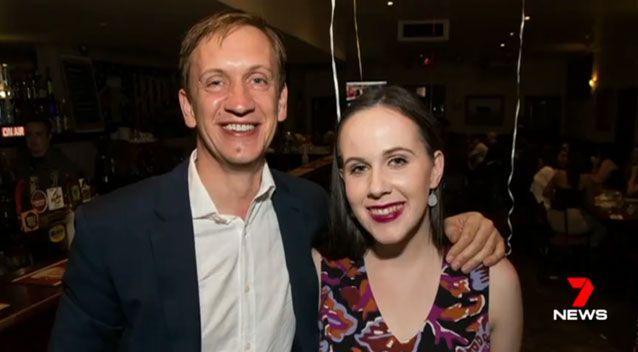 Labor MP Julian Hill with his daughter Elanor. Source: 7 News