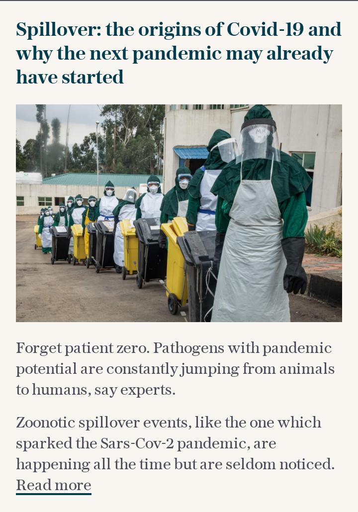 Spillover: the origins of Covid-19 and why the next pandemic may already have started