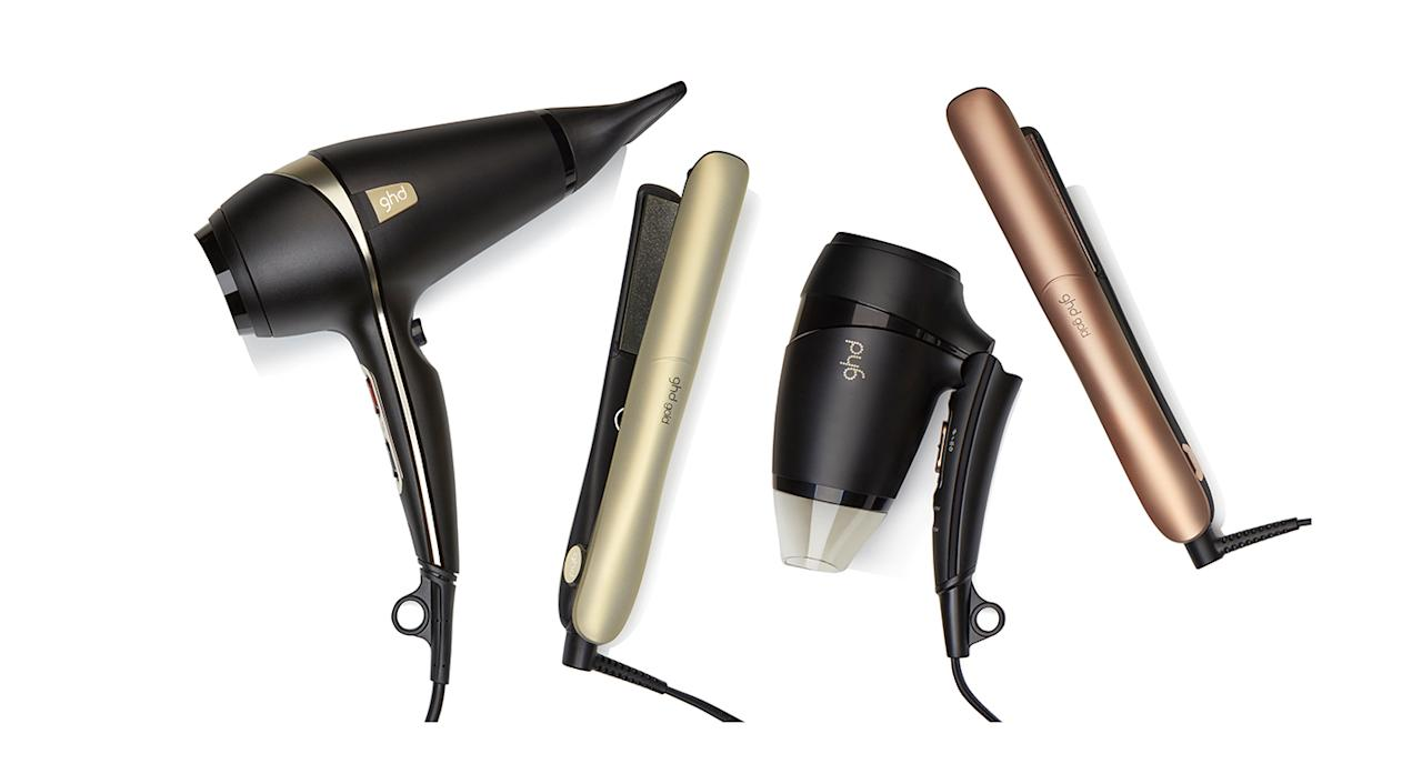<p>Once again, ghd has upped the ante. This new, limited edition range of hair products includes a pair of straighteners, which boast dual-zone technology (ensuring even smoother, more salon-perfect locks) and heat up in a mere 25 seconds, and two hairdryers. The full-size dryer has a powerful, professional motor to speed up drying time and banish frizz while the travel size dryer is ideal for keeping your mane tamed while away. <em>From £59. </em> </p>
