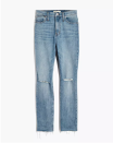 """<p><strong>Madewell</strong></p><p>madewell.com</p><p><a href=""""https://go.redirectingat.com?id=74968X1596630&url=https%3A%2F%2Fwww.madewell.com%2Fthe-high-rise-slim-boyjean-in-elkhart-wash-AJ235.html&sref=https%3A%2F%2Fwww.cosmopolitan.com%2Fstyle-beauty%2Ffashion%2Fg34276815%2Fmadewell-jeans-sale-october-2020%2F"""" rel=""""nofollow noopener"""" target=""""_blank"""" data-ylk=""""slk:SHOP NOW"""" class=""""link rapid-noclick-resp"""">SHOP NOW</a></p><p><del>$128<br></del><strong>$75 (41 percent off)</strong></p><p>Finding a pair of slim jeans with a relaxed fit can be a nightmare. This laid-back pair (peep the ripped knees) solves that problem with a slight comfy stretch. If you love a cuffed-jean look, note that these can easily be rolled up too. </p>"""