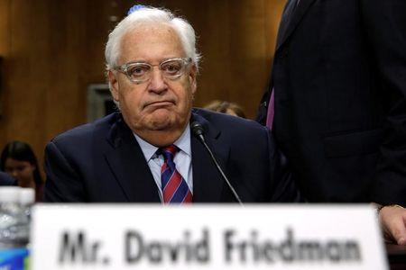 David Friedman testifies before a Senate Foreign Relations Committee hearing on his nomination to be U.S. ambassador to Israel, on Capitol Hill in Washington