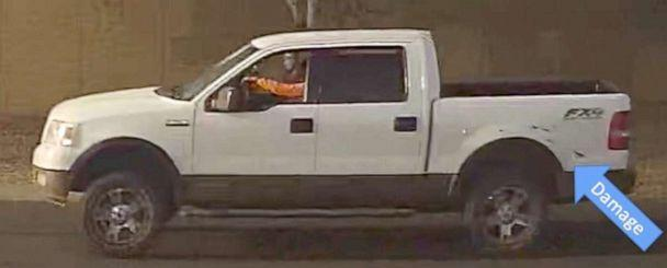 PHOTO: Phoenix police are searching for the gunman, seen here driving a white truck, who shot and killed a 10-year-old girl in an apparent road rage incident, April 3, 2019. (Phoenix Police Department)