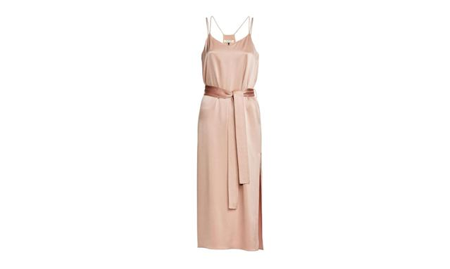 "<p>Satin Cami Slip Dress, $295, <a href=""https://www.halston.com/satin-cami-slip-dress"" rel=""nofollow noopener"" target=""_blank"" data-ylk=""slk:halston.com"" class=""link rapid-noclick-resp"">halston.com</a> </p>"
